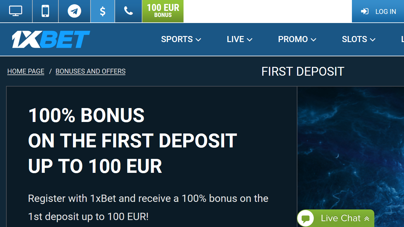 1xbet_mobile_bonus_100%