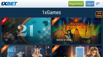 1xbet mobile spēles